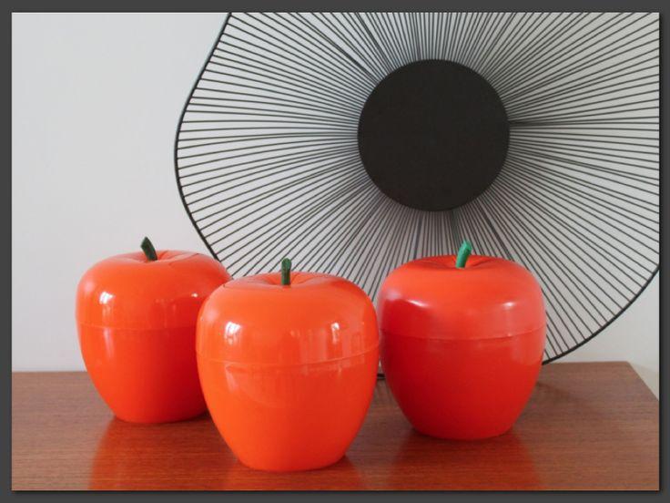 Pommes à glaçons oranges vintage