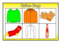 Clothes bingo (SB6432) - SparkleBox
