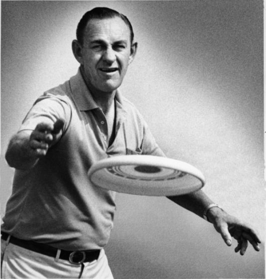 """In 1957 - The Wham-O Company developed the first plastic Frisbee. The most popular theory as to how this flying disc came to be dates back to the 1920s when Yale students invented a game of catch by tossing around metal pie tins from the Frisbee Baking Company in nearby Bridgeport, Connecticut. They would frequently shout """"Frisbieeeee"""" to warn passersby of the oncoming pie plate."""