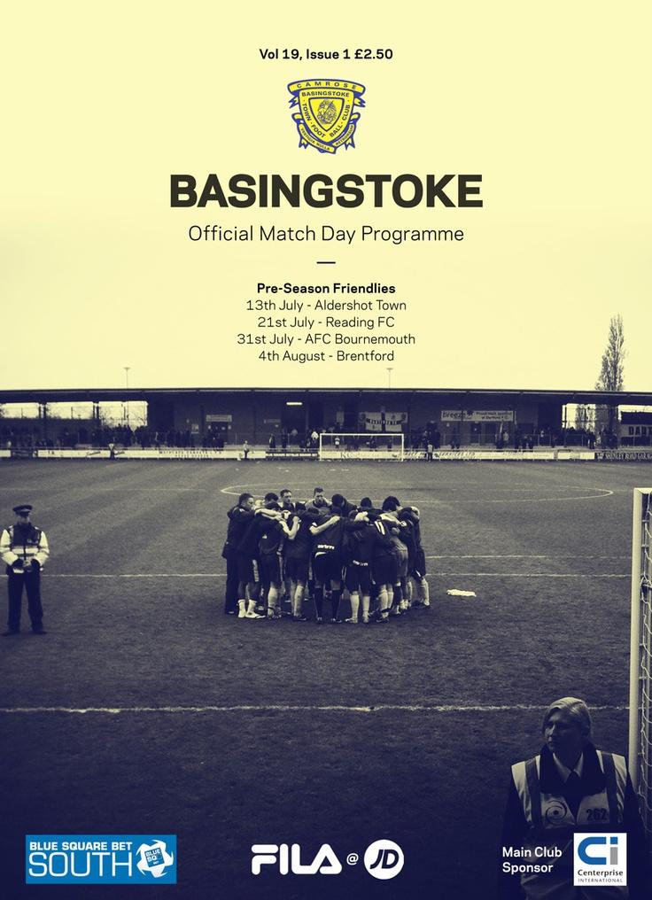 Basingstoke Town FC Match Day Programme, 13 July 2012