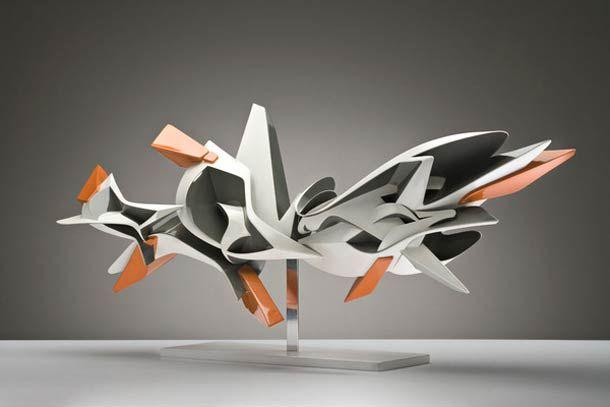 Graffiti en sculture 3D par l'artiste italien Peeta -- YB