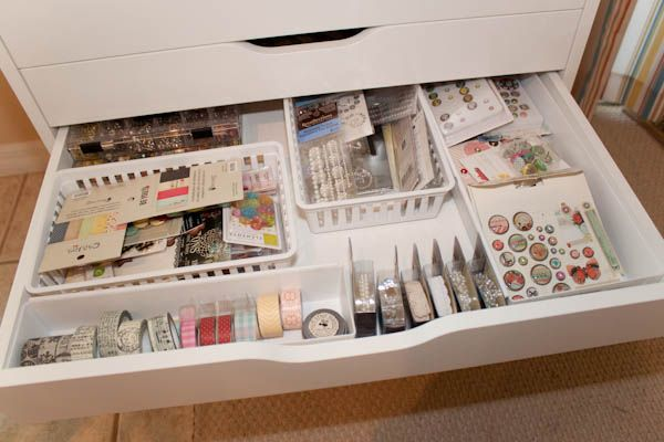 ikea alex drawer unit with baskets crafty organizing pinterest ikea drawer unit and. Black Bedroom Furniture Sets. Home Design Ideas