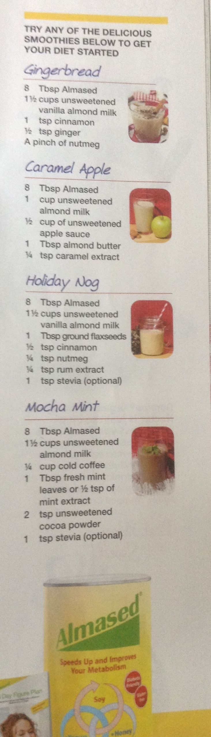 Almased smoothies for keeping on track during the holidays