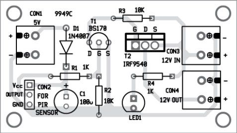 Fig. 4: Component layout of PCB