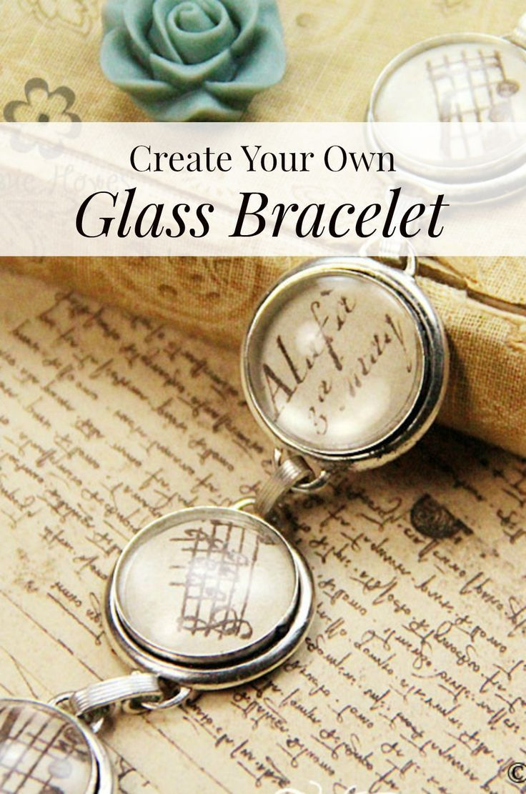 Create Your Own Glass Bracelet / Love this idea, great for gift-giving. #DIY