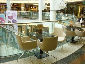 Schadow Arkaden Shopping Mall in Düsseldorf #ShoppingMall #ContractFurniture #RestaurantChair #BdsContract