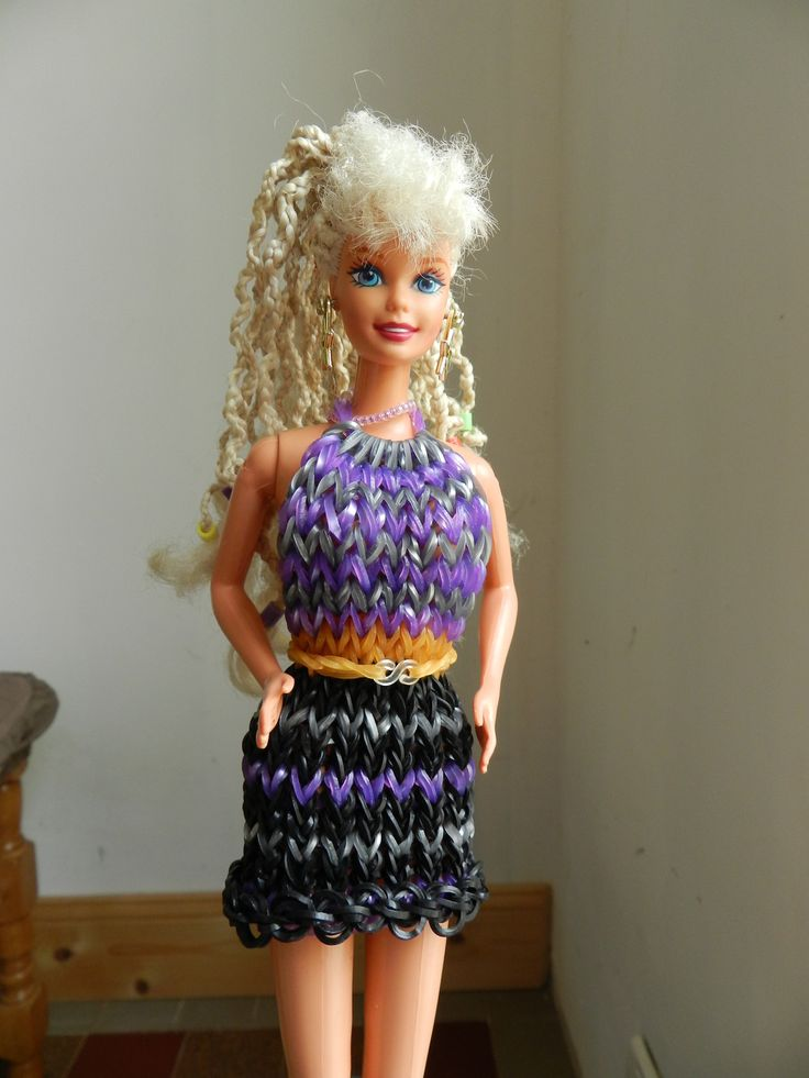 robe de Barbie en élastique rainbow loom : Jeux, jouets par liloupcrea