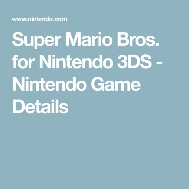 Super Mario Bros. for Nintendo 3DS - Nintendo Game Details