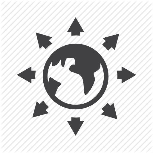 arrow, circle, download, earth, folder, forward, internet