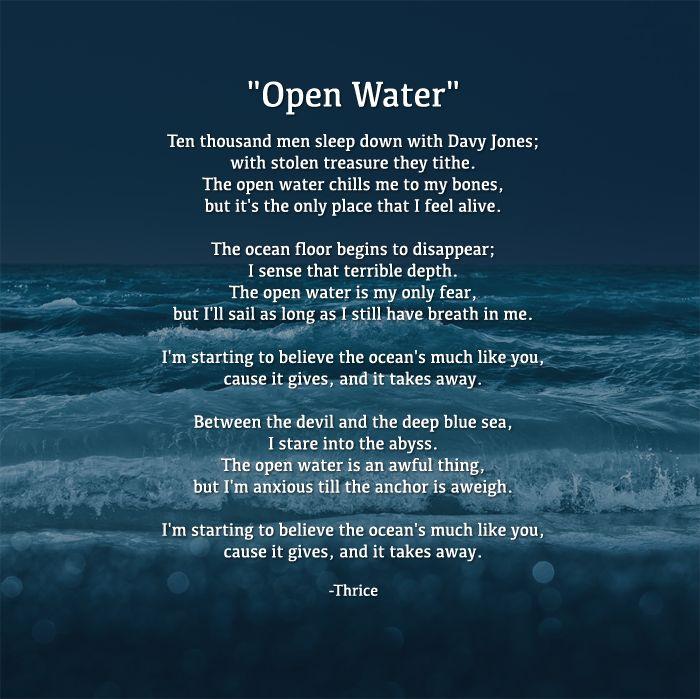 Thrice - Open Water Lyrics