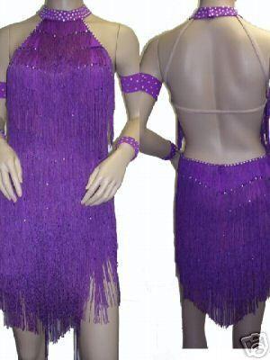 003C Fringing Ballroom Latin Salsa Swing ChaCha Samba Rumba Dance Dress US 10 | eBay