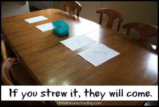 How strewing strengthens unschooling