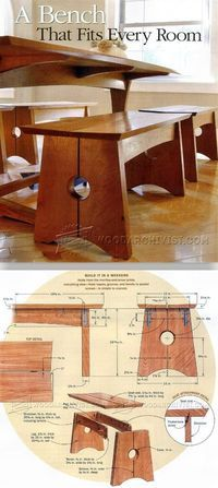 Wood Bench Plans Wood Bench Plans - Furniture Plans and Projects | WoodArchivist.com