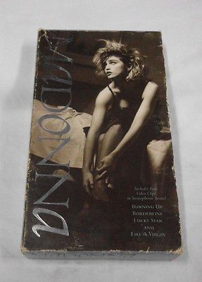 VHS TAPE 1984 MADONNA VIDEO CLIPS *LUCKY STAR LIKE A VIRGIN BORDERLINE BURNING