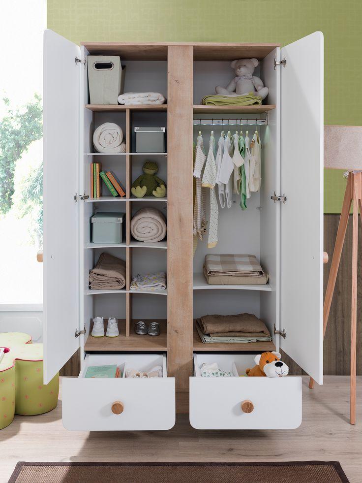 Детский двухдверный шкаф Cilek Baby Natura