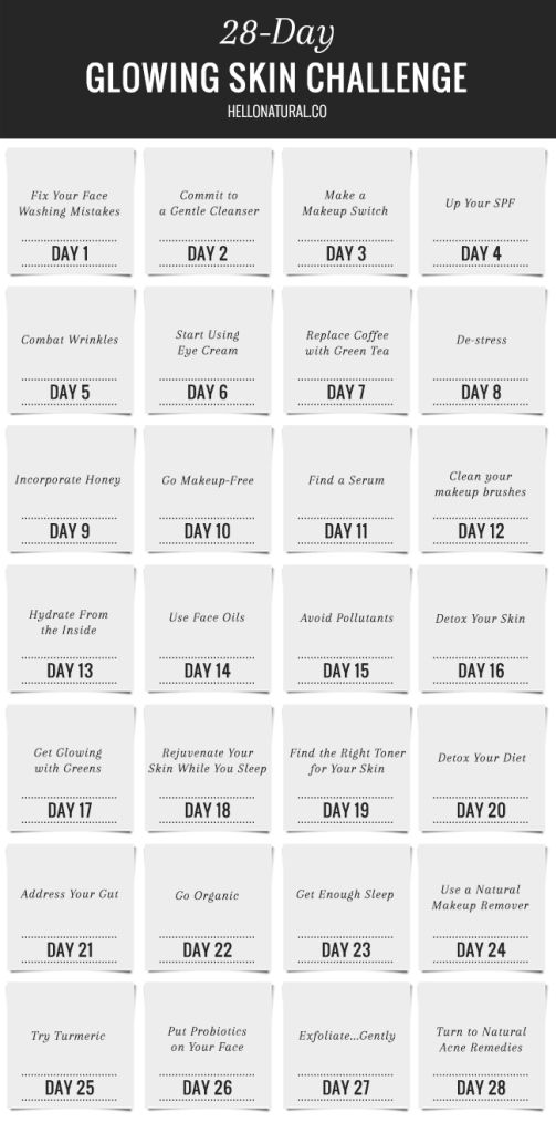 No-Fail Plan: 28-Day Glowing Skin Challenge | HelloNatural.co
