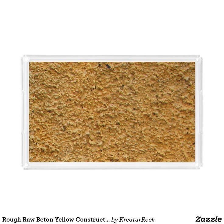 Rough Raw Beton Yellow Construction Wall