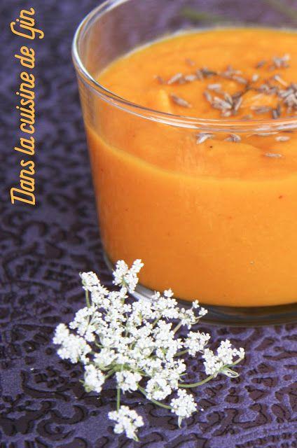 Crème froide de carottes à l'orange et au cumin  Recette sans gluten, sans lactose, végétalienne