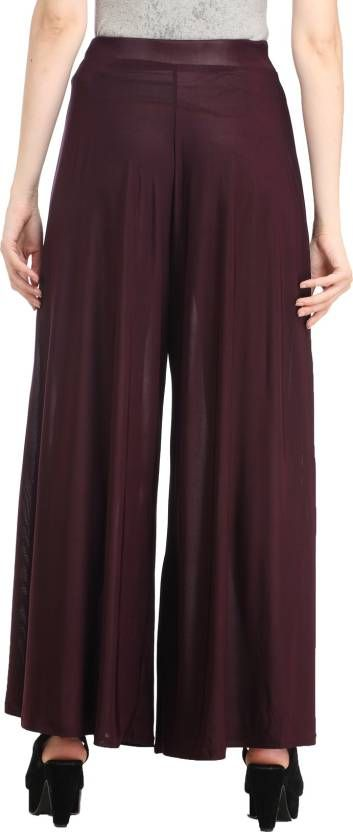 The biggest discounts of the season! Get 41% off on Glamfab Palazzo Pants For Women's Wine Color. #womenpalazzos #girlspalazzos #tops #shirts #pants #leggings