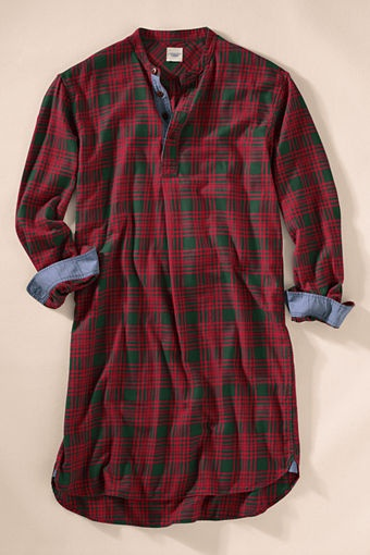 Men's Flannel Night Shirt love this with thick socks