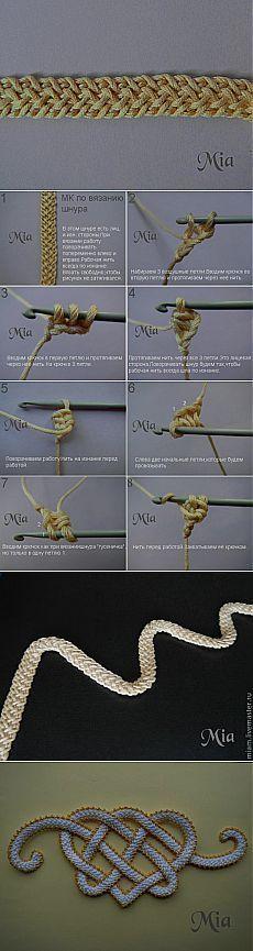 Crochet/ Tecnicas Maria L.Bertolino/ www.pinterest.com...