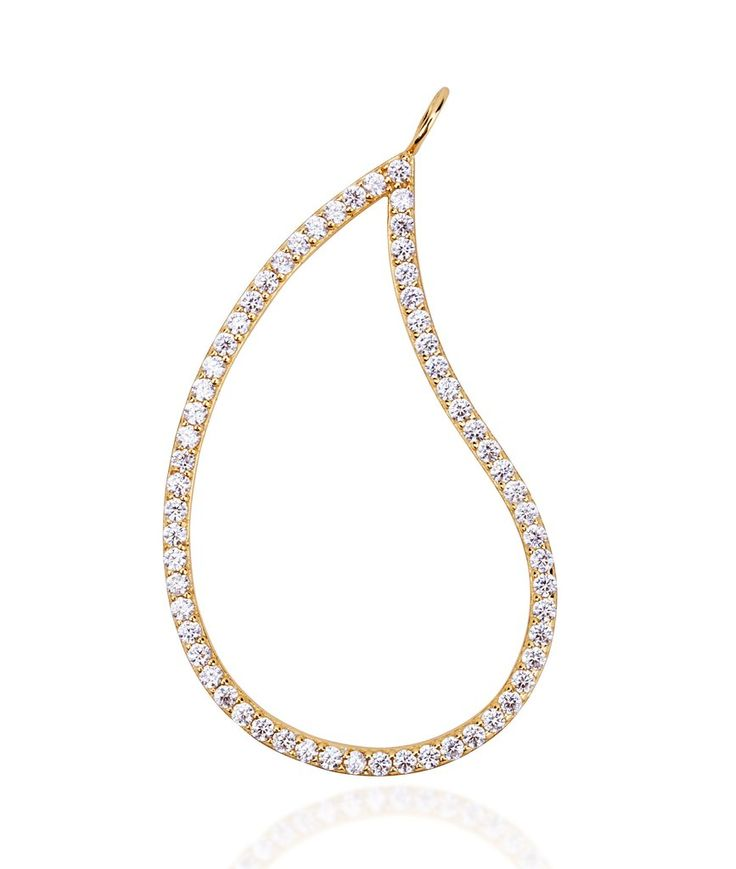 Large paisley gold vermeil charm pendant