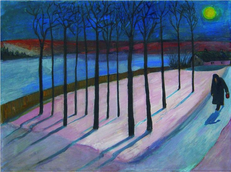 Marianne von Werefkin:  Mondnacht (1909-1910)