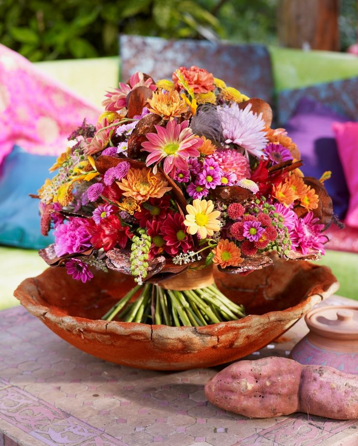 Blumen & Blumendekorationen | Chrysanthemen-Arrangement Herbst