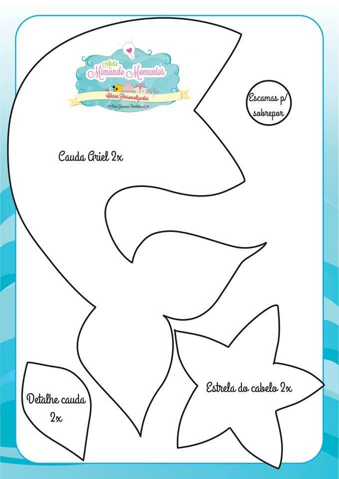Cauda Ariel - Pequena Sereia
