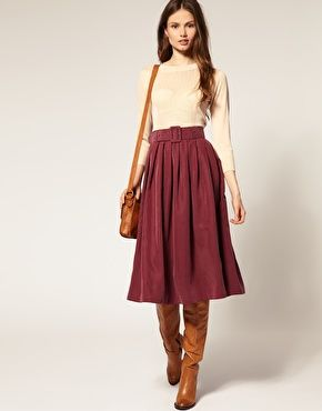 I adore cupro. But the name is a lie, since this is 70% modal and 30 polyester. ASOS Soft Handle Cupro Belted Midi Skirt
