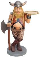 Viking Butler Statue with Tray - Human Figurine I found for my son Austin.
