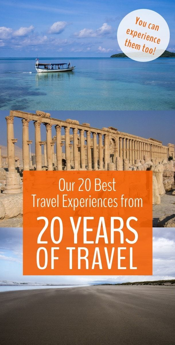 Travel isn't about destinations, it's about experiences. These are our top 20 travel experiences from 20 years of travel. Click if you want to try these amazing experiences too! #travel #adventure