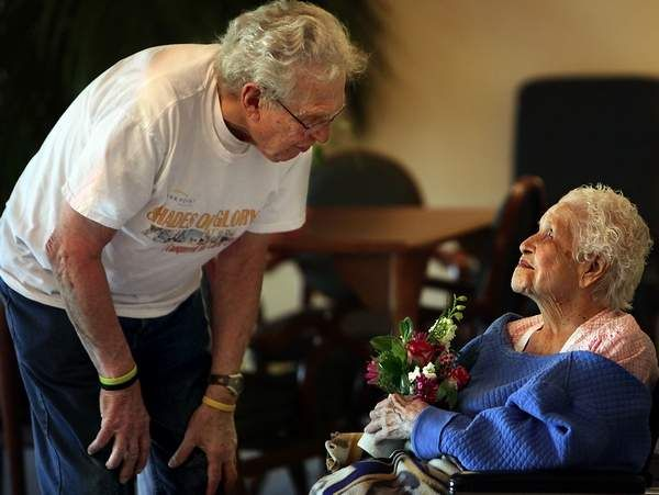 After a wedding, donate all the live flowers to a nursing home. Deliver them in person and try to personally give one to all the ladies that live there. Ask them if they have any marriage advice for you!