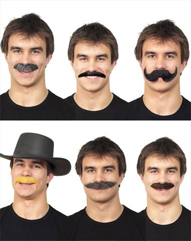 Fake mustaches?  Definitely! #photoboothprops