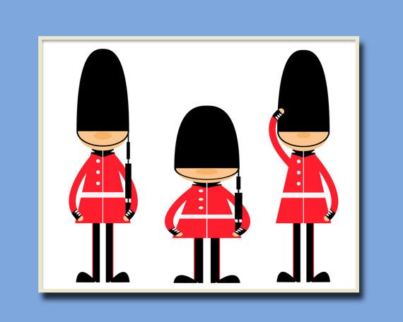 Toy Soldiers Nursery Art Print English Guards Nursery by HopAndPop, $13.50