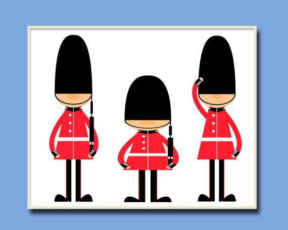 Toy Soldiers Nursery Art Print English Guards Nursery by HopAndPop, $13.50