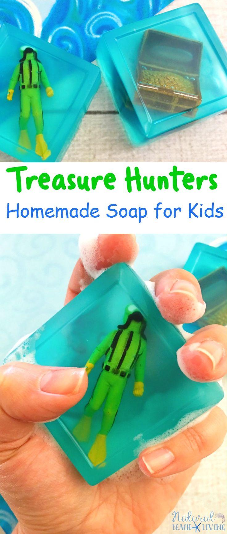 Treasure Themed Recipe Homemade Soap for Kids, Easy Homemade Soap Recipe for Kids,