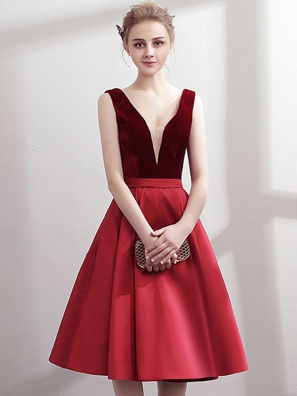 7fe031d118b Flash Sale Stylish Stitching Deep V Neck Sleeveless Sexy Elegant A ...