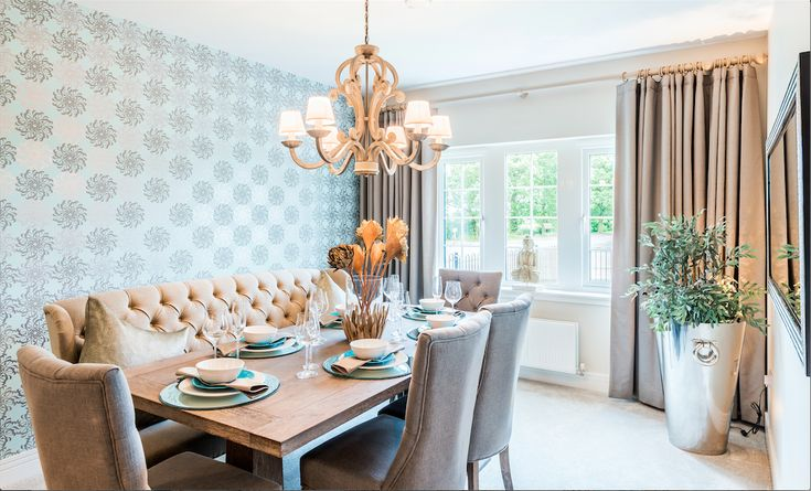 making the seating on one side of your dining room table a