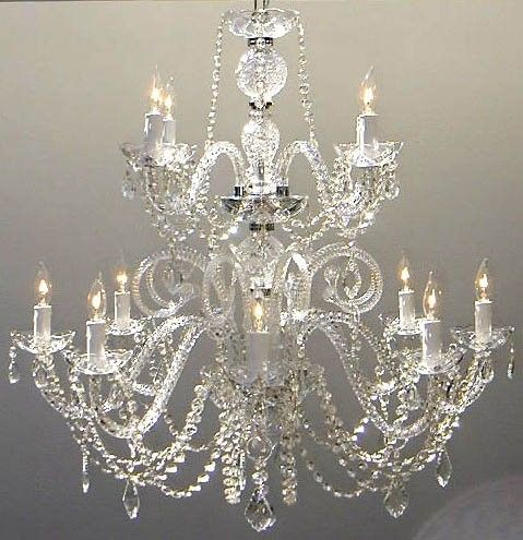 12 Light Crystal Chandelier by Harrison Lane; 30''H x 28''W x 28''D; chrome; 12 lights, bulb type: led, fluorescent or incandescent; $343.99