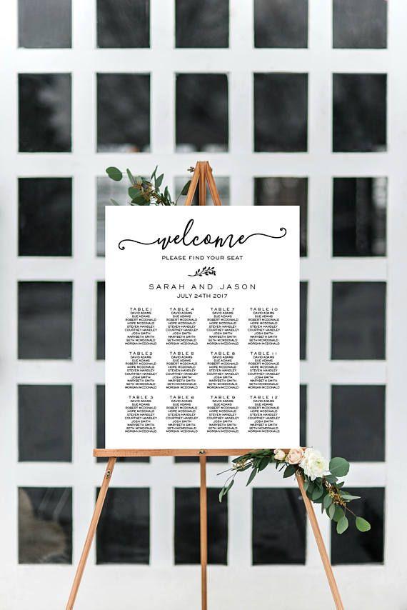 Wedding Seating Chart Printable Table Seating Template