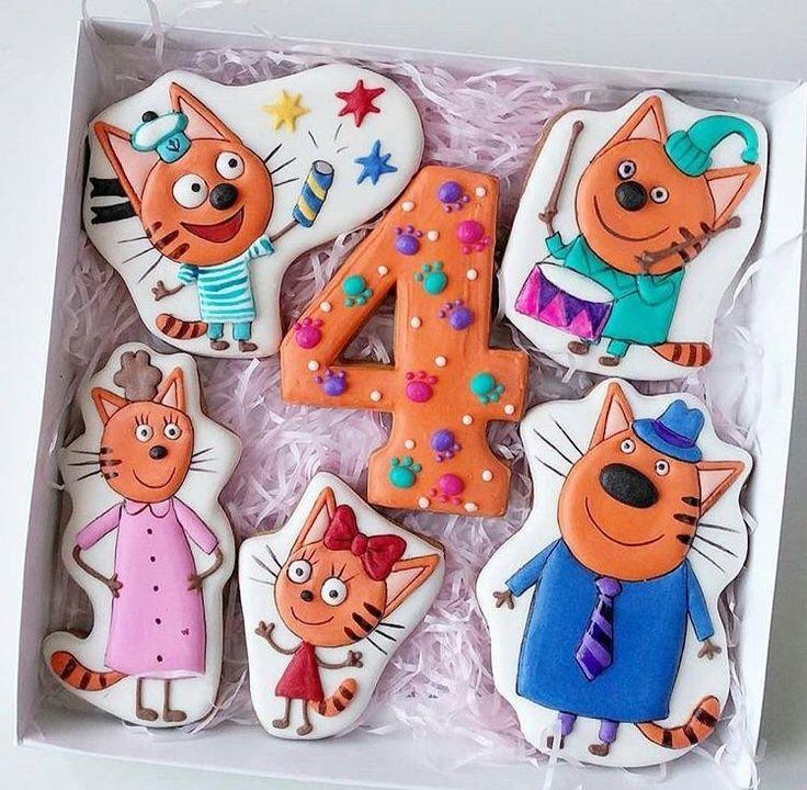 три кота картинки для торта фигурками являются