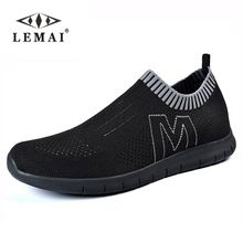 LEMAI 2017 Men's Casual Shoes,Men Summer Style Mesh Flats For Men Loafer
