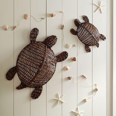 I love the Wicker Sea Turtles on pbteen.com: Wicker Turtles, Beach Theme Rooms, Guest Bathroom, Beaches Rooms, Beaches Theme Rooms, Wicker Sea, Beaches Houses, Sea Turtles, Beach Themes