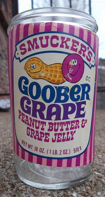 Vintage 1970's Smucker's Goober Grape Jar
