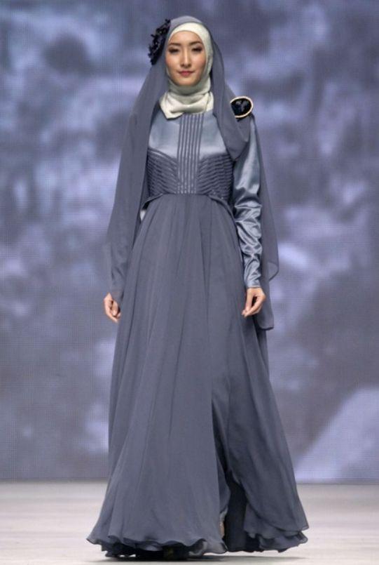 Gaun Pesta Muslim Penampilan Anggun