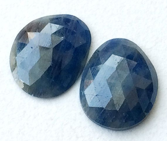 Sapphire Rose Cut Flat Back Cabochons Matched by gemsforjewels