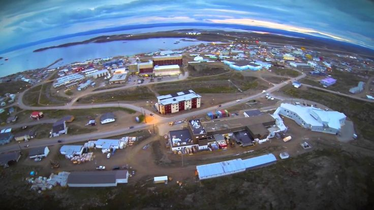 Iqaluit aerial view-land and water Unit 1 Grade 2 Social Alberta.