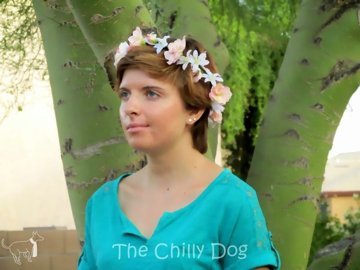 Tutorial: How to make a flower crown with silk tweedia and delphiniums. This feminine, floral crown would be a beautiful bridesmaid or flower girl accessory at a spring or summer wedding.