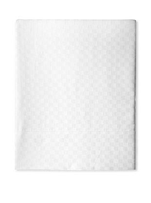 55% OFF Coyuchi Check Damask Flat Sheet (White)
